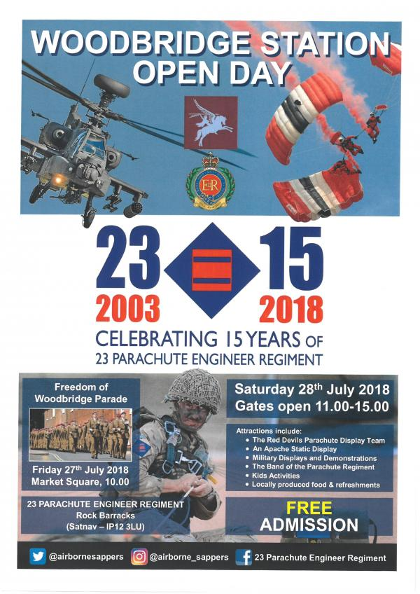 23 Parachute Engineer REgiment celebrating 15 years